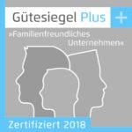 """Gütesiegel Plus """"Familienfreundliches Unternehmen"""""""
